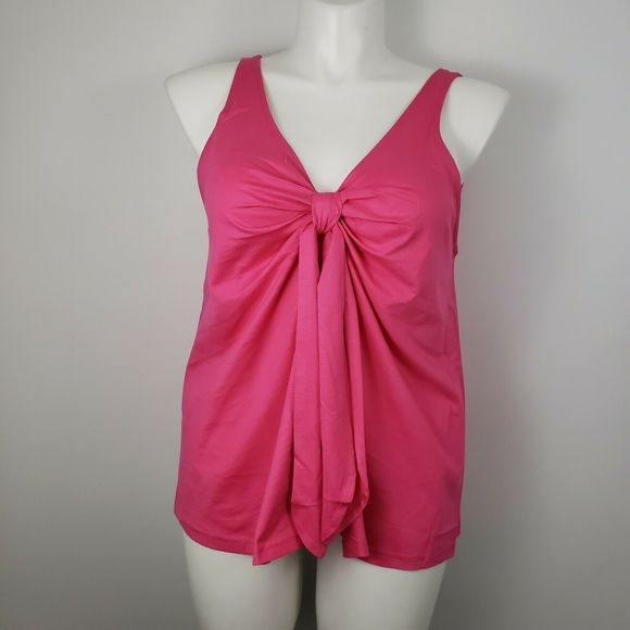 NWT J Crew Lg Tank Top Knot Tie Front shirt pink